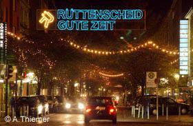 Winterbeleuchtung in Rüttenscheid