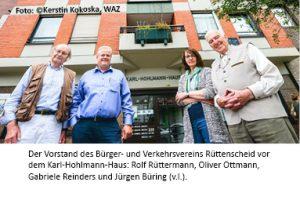 WAZ August 2017 Karl Hohlmann Haus