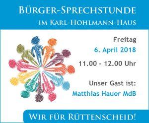 BuergerSprechstunde Matthias Hauer
