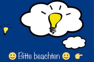 beachten